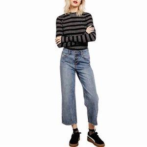 NWT Volcom High & Dry Wide Leg Crop Jeans 29